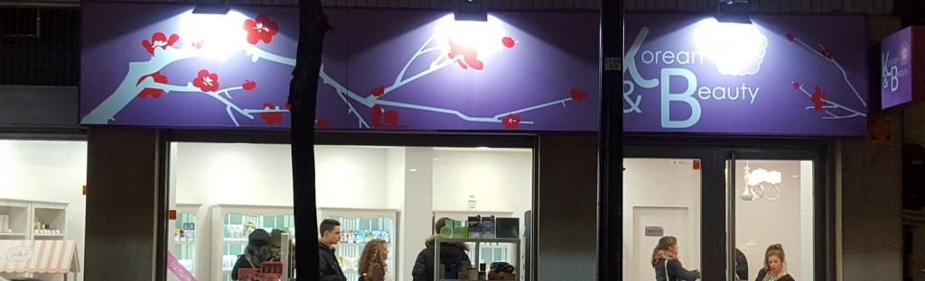 Tienda de korean&beauty en Zaragoza fachada exteior