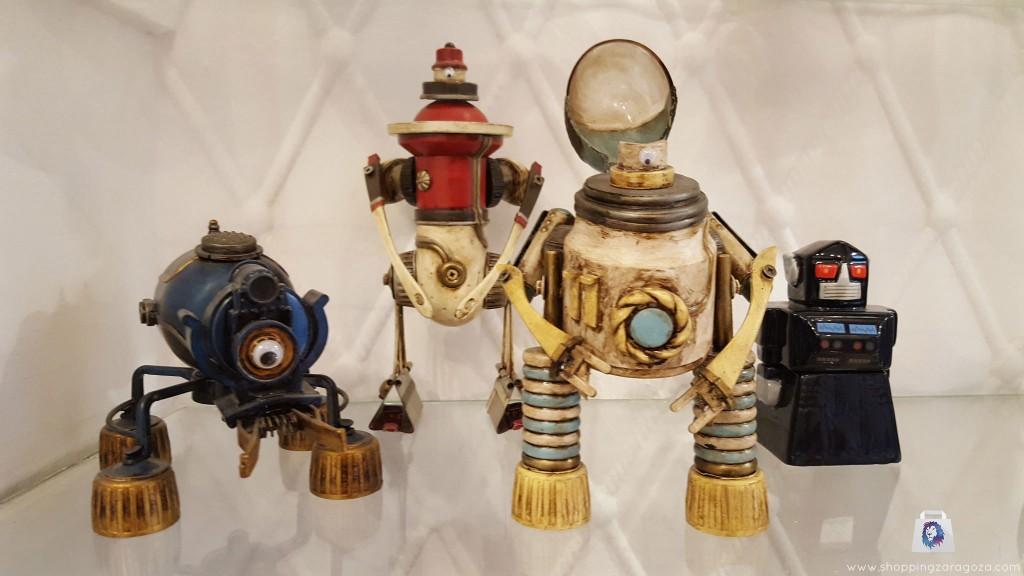 robot steampunk obra de autor en Brigadoon Zaragoza